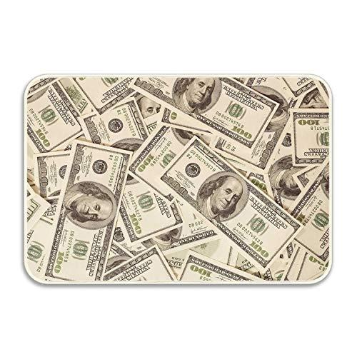 - Doormat Soft Flannel Doormat Printing Euro Banknotes Non Slip Water-Absorbing Mat