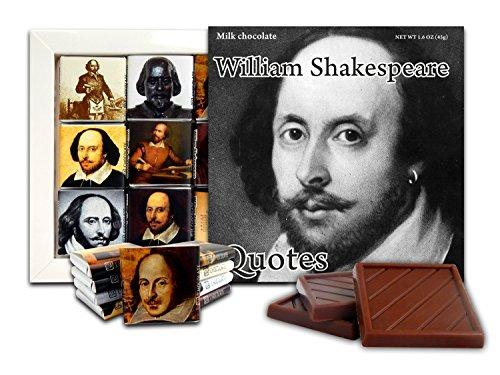 DA CHOCOLATE Cute Candy WILLIAM SHAKESPEARE QUOTES Chocolate Gift Set 5x5in 1 box (Black&White Prime 2)(0413)