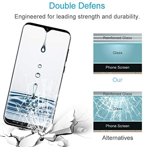 LGYD for 50 PCS for DOOGEE X90 X90L 2.5D Non-Full Screen Tempered Glass Film