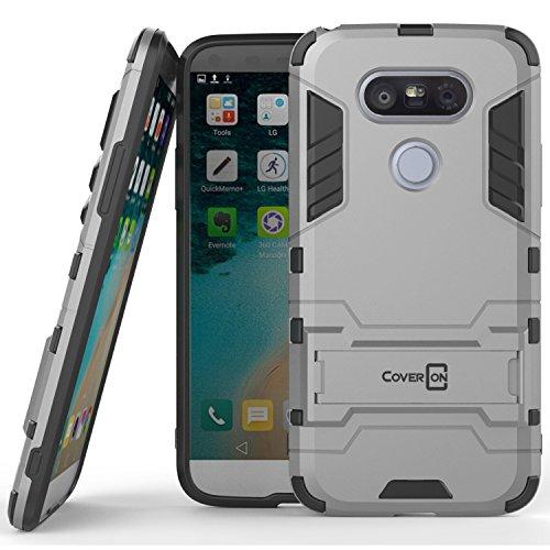 Tough Hybrid Dual Layer Case for LG G5 (Silver) - 8