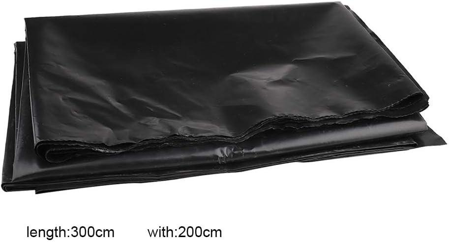 2 x 3 m. Forro de Goma para Estanque Color Negro XUELIEE HDPE