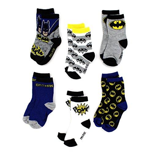 Batman-Boys-6-pack-Crew-Socks-BabyToddlerLittle-Kid