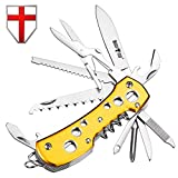 Multi Function Knife 11-in-1 with Corkscrew and Scissors – Utility Tool, Good for Camping, Hunting, Survival, Hiking and Outdoor Activities – Grand Way 100015 For Sale