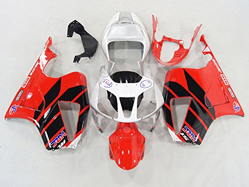 Moto Onfire Motorcycle Fairings Kits Bodywork For Honda VTR1000 RVT RC51 SP1 SP2 2000-2006 (Red ABS Compression Plastic) (Honda Rc51)
