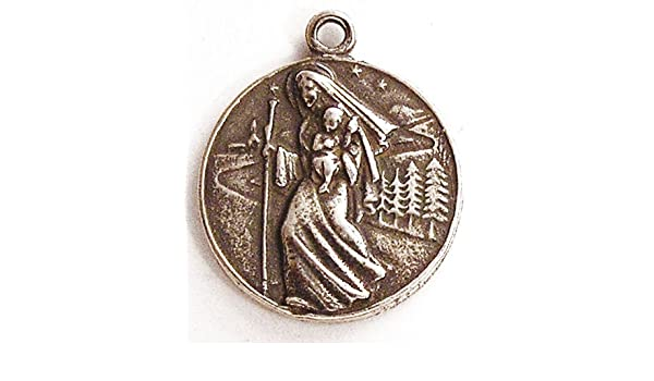 Amazon com: St Christopher, Our Lady of the Road Medal - True Bronze