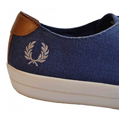 B6225 Uomo Canvas Scarpe Blue Blu Fred Savitt Tennis 266 Perry Polacchine Printed Sneaker Carbon EwXqvq1BnS