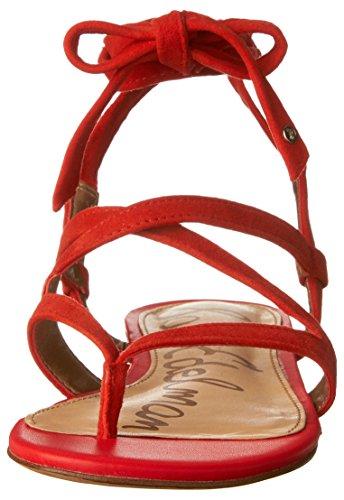 Sam Edelman Kvinders Davina Sandal Havana Rød Ruskind iM8TMQG