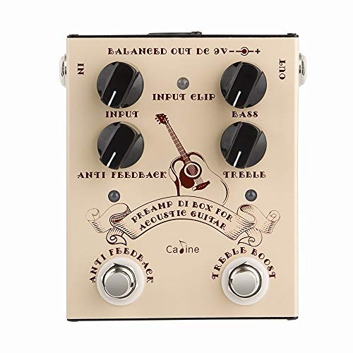 Caline Acoustic Guitar Effects Pedal DI Box Cabinet Simulator Pedal Preamp True Bypass CP-40 Guitarist Gifts