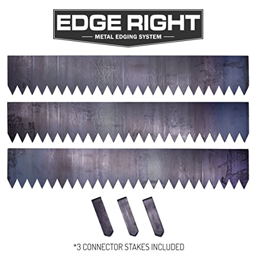 Edge Right - Hammer-In Landscape Edging - 8 inch depth - 14-Gauge Cor-Ten Steel (12 feet total) - Edge Landscape Edging