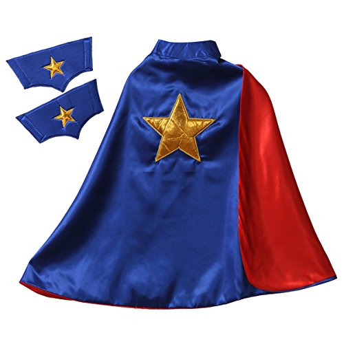 Storybook Wishes Reversible Red/Blue Star Cape & Cuffs ()
