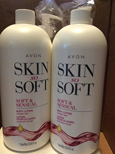 Avon skin so soft Soft & Sensual Body lotion for dry skin 33.8 fl.oz. lot 2 bottles