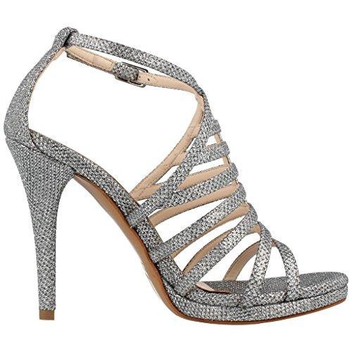 Albano Damen Sandalen, Farbe Grau, Marke, Modell Damen Sandalen 61132 Grau Grau