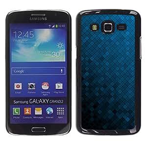 Exotic-Star ( Texture Blue Cubes ) Fundas Cover Cubre Hard Case Cover para Samsung Galaxy Grand 2 II / SM-G7102 / SM-G7105