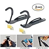 YaeTek 2 Pieces Heavy Duty Solid Steel Wall Mount Bicycle Hanger or Bike Holder - Space Saving Storage System for Home, Garage, Shed - Easy to Install Mounting Hardware Included - Black