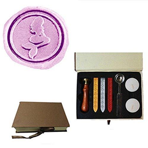 (エムディーエルジー) MDLG ヴィンテージ ワックスシーリングスタンプセット  封蝋 人魚モチーフ 結婚式の招待状に最適 Box Kit Box Kit  B01GJUWSQI