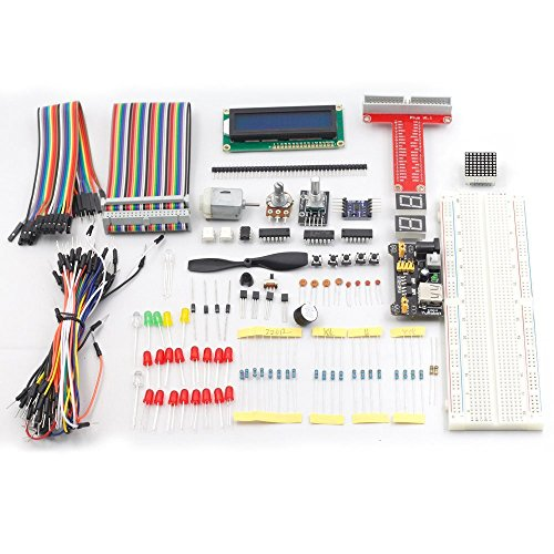 SunFounder Raspberry Pi 3 Model B+ Starter Kit Project Super Kit for RPi 3B+ 3B 2B B+ A+ Zero Including GPIO Breakout Board Breadboard LCD DC Motor LED RGB Dot Matrix 73 Page Manual User Guide by SunFounder (Image #7)