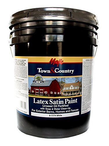 Majic Paints 8-7774-5 Town & Country Exterior Latex Satin Paint, 5 gallon, Satin ()