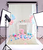 Laeacco Vinyl 5x7ft Photography Background Three Year Old Children's Birthday Party Photographic Background White Fireplace Balls Celebaration Portraits Shooting Video Studio Prop