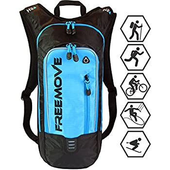 Hydration Backpack Hiking Gear, Running, Biking, MTB Cycling, Kayaking, Skiing. Durable, Lightweight, Adjustable, Water Resistant, Multiple Compartments ...