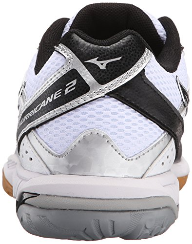 Mizuno Des Femmes De Cyclone Donde 2 Volleyball Blanc Chaussure / Noir