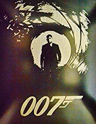 James Bond Metal Poster 007 Spectre Movie Painting Spray Paint Daniel Craig