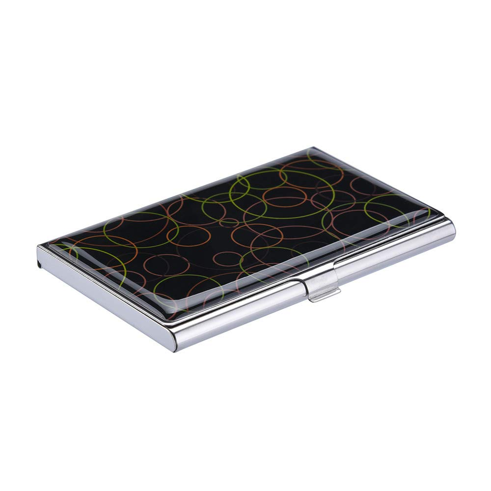 Lomsarsh New Exquisite Magnetic Attractive Card Case Box Holder Stainless Steel Business Metal Epoxy Business Card Case