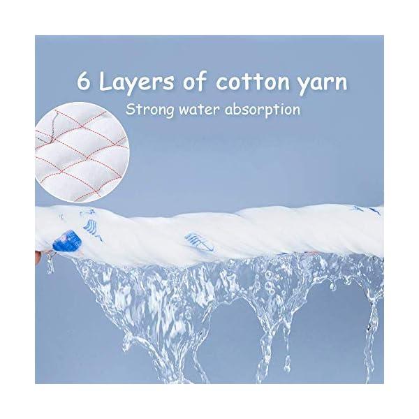 Caiery Copertine in Mussola/Mussole Neonato 110CMx110CM /Asciugamani Bimbo/Baby Bath Towel, 100% Mussola Cotone… 5