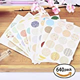 Decorative Japan style Round Stickers Vintage