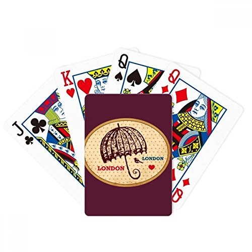 beatChong UK London Umbrella Stamp British Poker Playing Card Tabletop Board Game Gift by beatChong