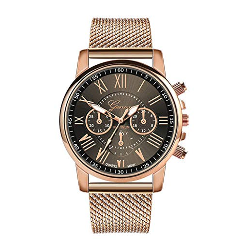 - The Best Gift!!Aries Esther Fashion Luxury Quartz Sport Military Stainless Steel Dial Leather Band Wrist Watch