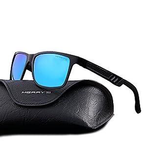 MERRY'S 2016 Hot Retro Aluminum Frame Driving Polarized Sunglasses For Men Women S8571 (Blue, 57)