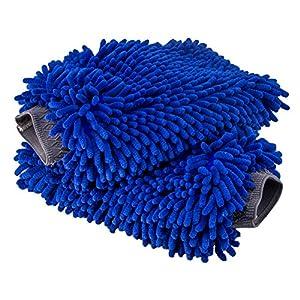Ultimate Car Wash Mitt - 2 pack Extra Large Size - Premium Chenille Microfiber Wash Mitt - Wash Glove - Lint Free - Scratch Free