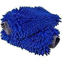 Relentless Drive Ultimate Car Wash Mitt - 2 pack Extra Large Size - Premium Chenille Microfiber Wash Mitt - Wash Glove - Lint Free - Scratch Free