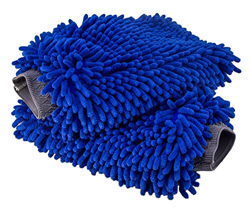 Relentless Drive Ultimate Car Wash Mitt - 2 Pack Extra Large Size - Premium Chenille Microfiber Wash Mitt - Wash Glove - Lint Free - Scratch ()