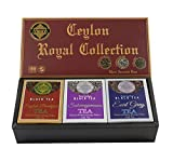 Mlesna Pure Ceylon Fine Black Loose Tea Royal Collection Luxury Pack- 3 Assorted Tea English Breakfast, Ceylon Earl Gray and Sabaragamuwa Black Tea Orange Pekoe Gift Box