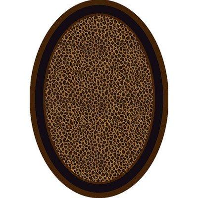 Innovation Zimbala Leopard Print Rug Rug Size: Oval 3'10