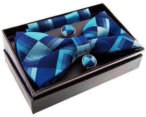 (Retreez Vintage Geometric Pattern Woven Microfiber Pre-tied Bow Tie (Width: 5