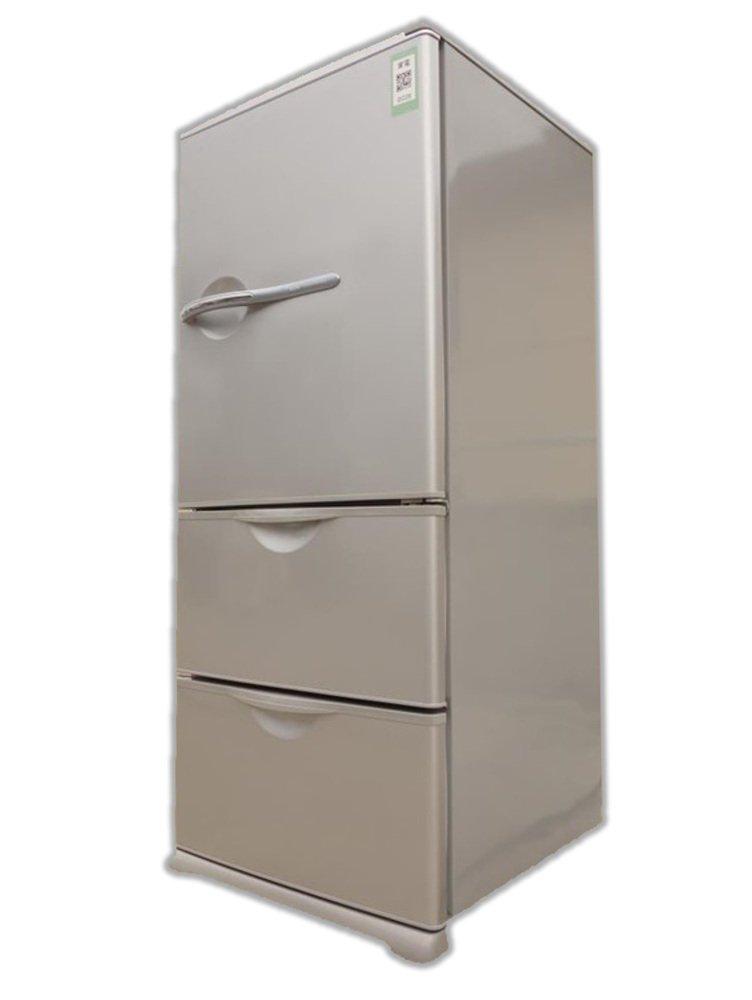 サンヨー 255L 3ドア ノンフロン冷蔵庫(ヘアラインシルバー)SANYO SR-261U-S   B004P0K22W