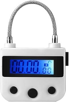 Multipurpose Time Lock Waterproof USB Rechargeable Time Switch Lock Padlock