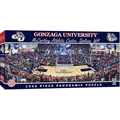 MasterPieces NCAA Gonzaga Bulldogs 1000 Piece Stadium Panoramic Jigsaw Puzzle ()