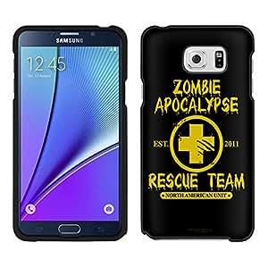 Samsung Galaxy Note 5caso, Galaxy S4cubierta por Trek de Zombies 2012equipo de rescate Amarillo sobre negro funda