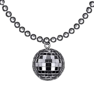blinkee Disco Ball Charm Necklace On Silver Beads by: Toys & Games