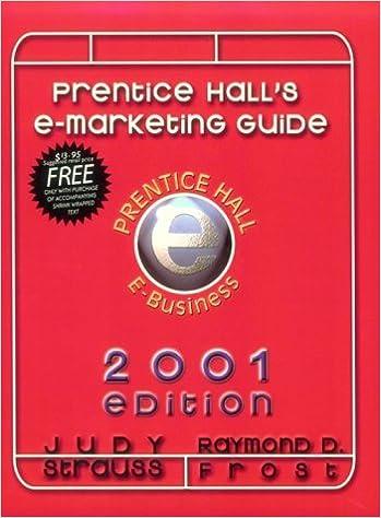 Book Ebiz Guide to E-Marketing 2001 by Strauss Judy Frost Raymond (None)