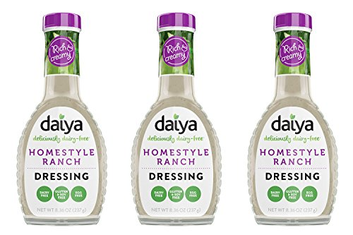 (Daiya Homestyle Ranch Dressing, Dairy Free :: Rich & Creamy Salad Dressing :: Vegan, Gluten Free, Soy Free, Egg Free, Non GMO :: Deliciously Zesty Flavor For Pouring or Dipping, 8.36-Oz. (3 Pack))