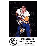 Greg Lebsack Hockey Card 1983-84 Saskatoon Blades #18 Greg Lebsack