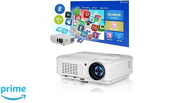 Proyector Inalámbrico Bluetooth 4400 Lumen Video Proyector Home ...