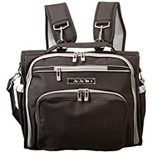 Ju-Ju-Be B.F.F. Convertible Diaper Bag, Black/Silver