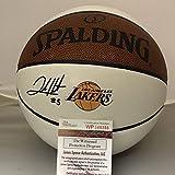 Autographed/Signed Josh Hart Los Angeles LA Lakers Logo Spalding Full Size Basketball JSA COA