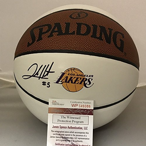 Autographed/Signed Josh Hart Los Angeles LA Lakers Logo Spalding Full Size Basketball JSA COA (Spalding Autographed Basketball Mini)