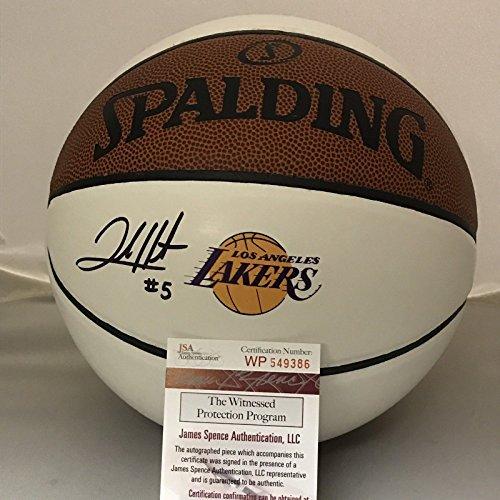 Autographed/Signed Josh Hart Los Angeles LA Lakers Logo Spalding Full Size Basketball JSA COA (Mini Autographed Basketball Spalding)